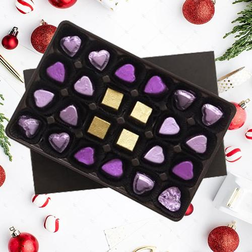 Sumptuous n Delightful pack of 24 pcs Assorted Home made Chocolates
