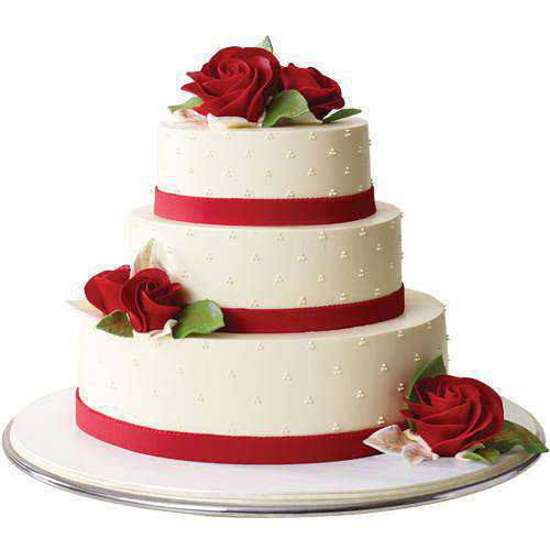 Hypnotizing 3 Tier Wedding Cake
