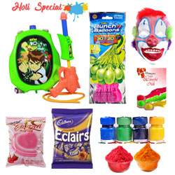 Exotic Choco with Ben 10 Holi Hamper