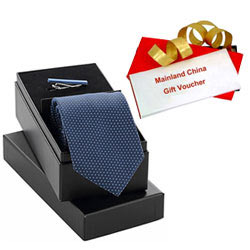 Impressive Present of Mainland China Gift Voucher worth Rs.1000 along with Tie Tiepin Gift Set