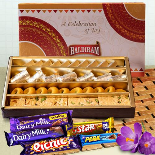 Haldirams Assorted Sweets with Cadbury Celebration