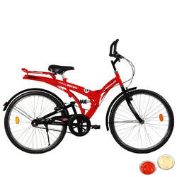 Stylish Black and Red BSA Rocky Bicycle with free Roli Tilak and Chawal