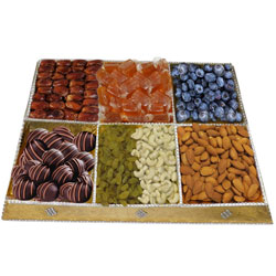 Decorated Feasting Dry Fruit and Chocolate Platter