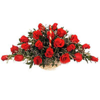 Delightful 24 Archangelic Red Roses Arrangement
