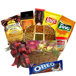 Fanciful Hamper Basket with Warm Wishes