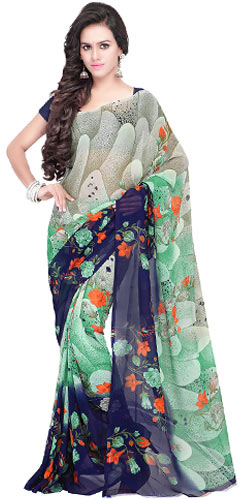Flappy Georgette Saree