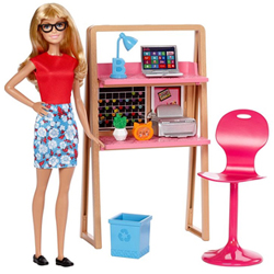 Stunning Barbie Doll Home N Office Kit for Toddlers