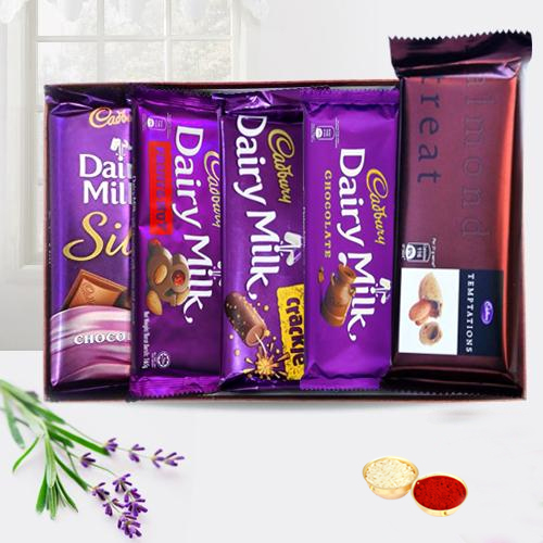 Treat of Chocolates from Cadburys with free Roli Tilak and Chawal