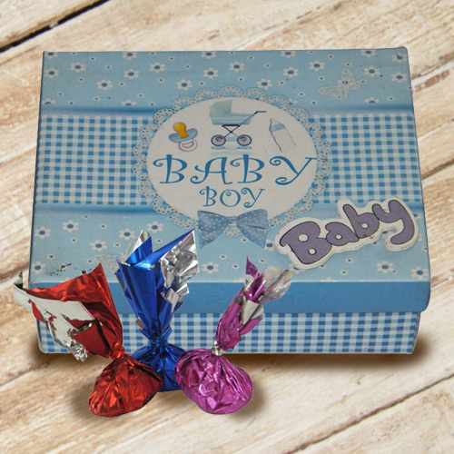 Delicious Handmade Assorted Chocolate Gift Box for Baby Boy