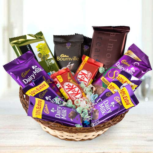 Sumptuous Assorted Chocolates Gift Basket