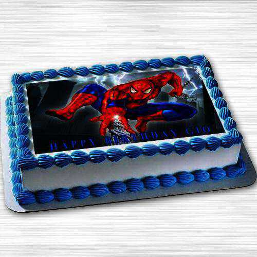 Delicious Spiderman Photo Cake