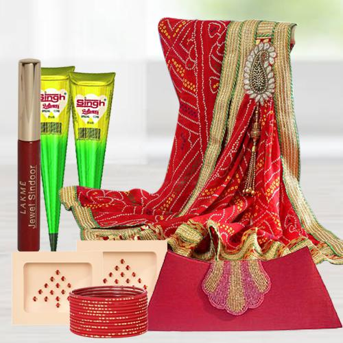 Marvelous Goodies Gift Bag for Karwa Chauth Sringar
