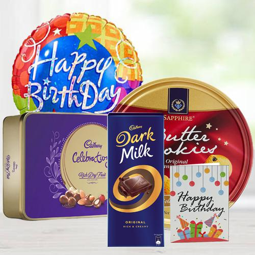 Delectable Birthday Chocos N Cookies Gift Combo