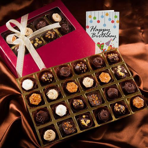 Delicious Handmade Rum filled Chocolate Box