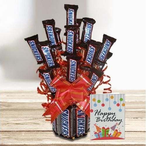Outstanding Snickers Chocolate Bouquet