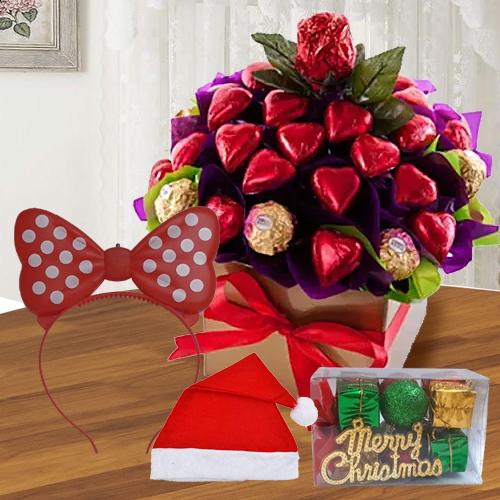 Exclusive Heart Shaped Handmade N Ferrero Rocher Chocos<br>