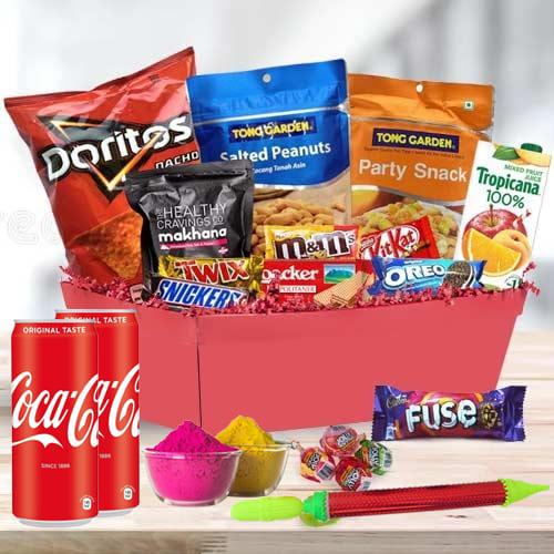 Tasty Sweet n Savory Gift Hamper for Holi
