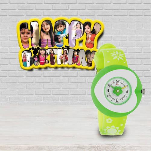 Kids Birthday Special Personalized Photo Frame n Titan Zoop Watch