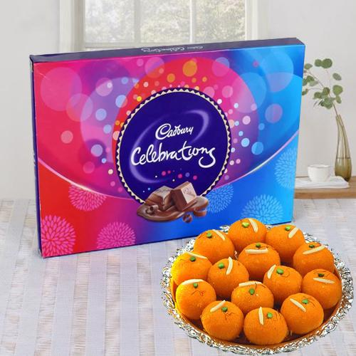 Cadbury Celebrations Pack N Haldirams Laddoo
