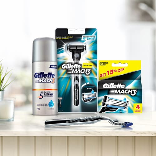 Remarkable Gillette Mach3 Shaving Kit for Men
