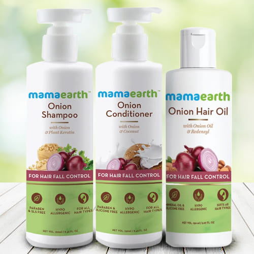 Glowing Look Mamaearth Anti Hair Fall Gift Kit