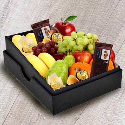 Yummy Box of Fresh Fruits N Chocolates