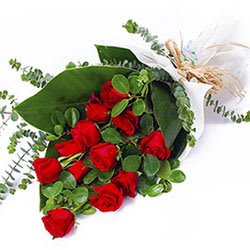 Classic Bouquet of Red Roses