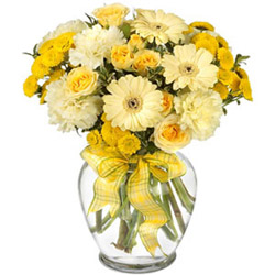Delightful Mixed Flowers Arrangement
