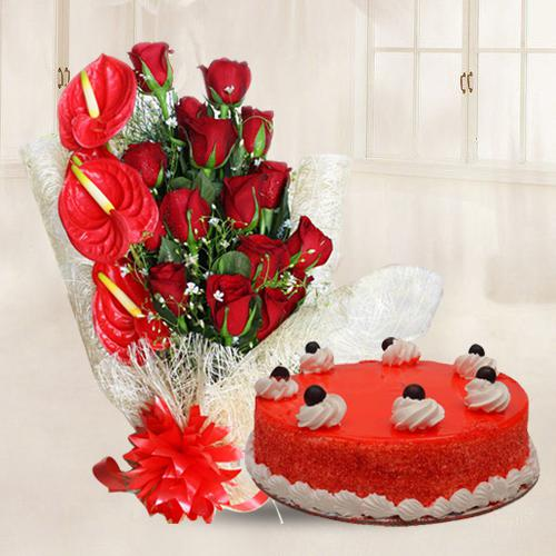 Radiant Red Delight Gift Combo