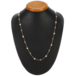 Marvelous Pearl and Gold Plated Necklace from Avon
