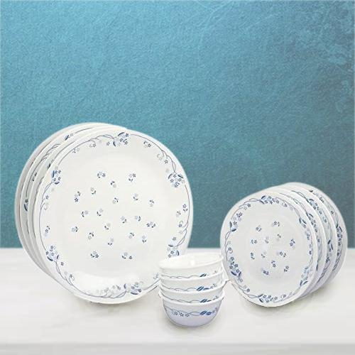 Outstanding Corelle Provincial Blue n White Glass Dinner Set