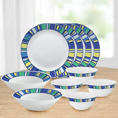 Stylish Larah by Borosil Tiara Series Opalware Dinner Set