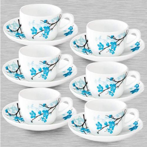 Beautiful Larah By Borosil Mimosa Cup and Saucer Set