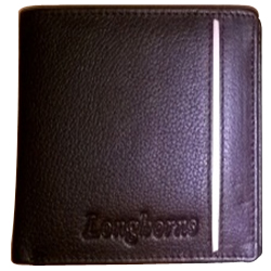 Stunning Longhorn Leather Gents Wallet in Black Colour