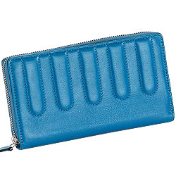 Stunning Leather Ladies Wallet in Sky Blue
