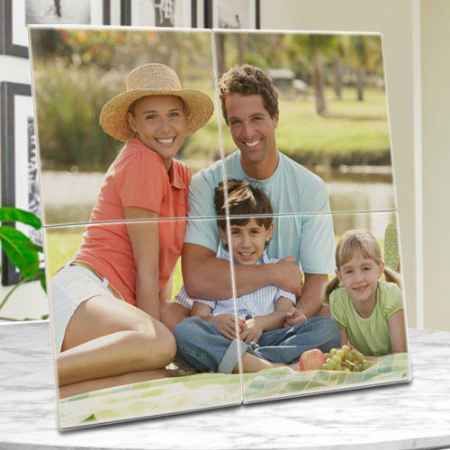Stunning Personalized Photo 4 Tile Mural Frame