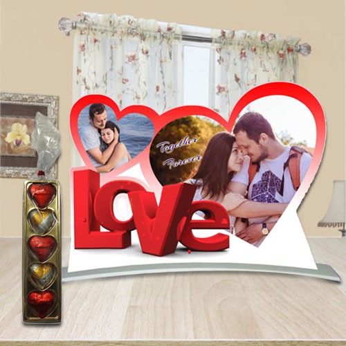 Perfect Hearty Love Personalized Photo Stand