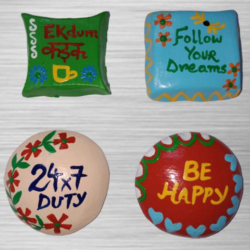 Attractive Handmade Fridge Magnets Set of 4