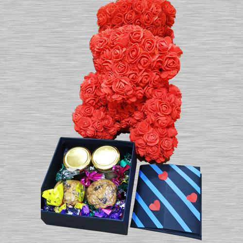 Combo of Teddy with Chocos, Cookies, N Card
