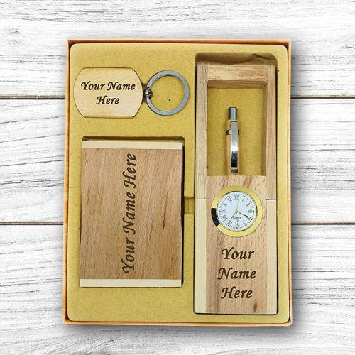 Exclusive Personalized Wooden Office Table Set