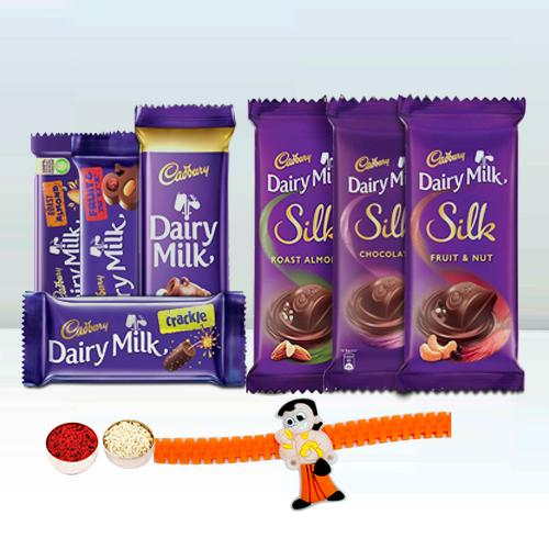Assorted Cadbury With a Kids Rakhi Gift for Brother