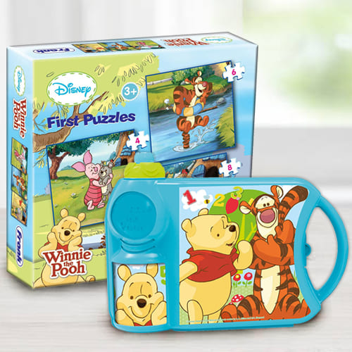 Mesmerizing Disney Winnie the Pooh Toy N Tiffin Combo