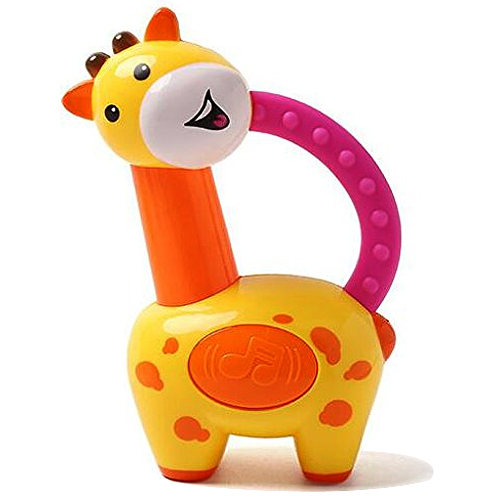 Exciting N Colorful Giraffe Clacker Rattle only for Kids from Fisher-Price