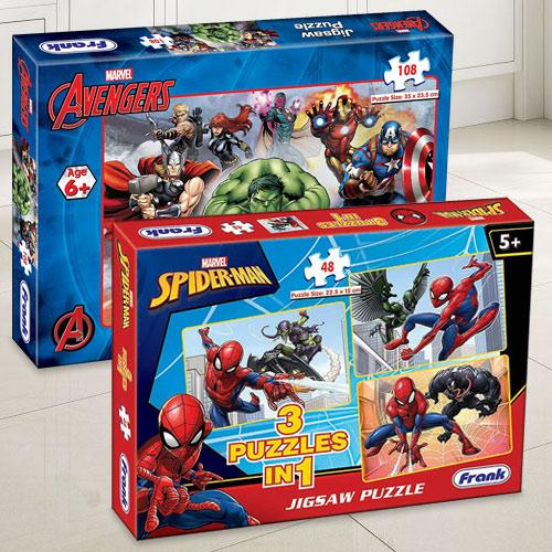 Exclusive Frank Marvel Spider-Man N Marvel Avengers Puzzle Set