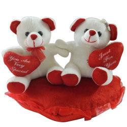 Attractive Couple Teddy with Touch of Soft Heart