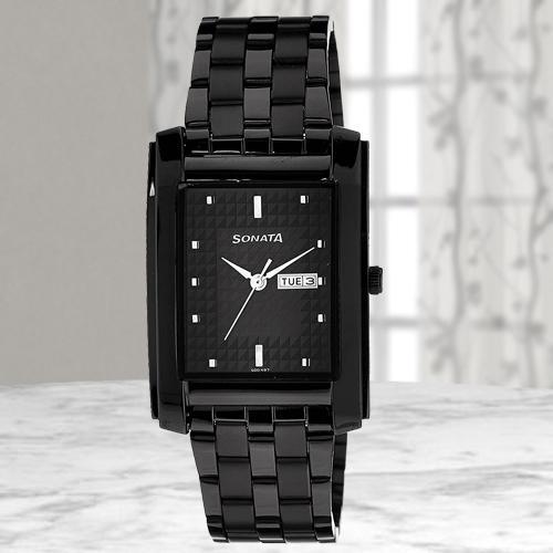 Exclusive Sonata Analog Mens Watch