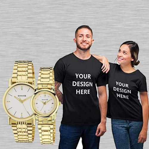 Remarkable Sonata Analog Watch N Personalized T Shirts